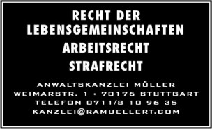 Anwaltskanzlei Tilmann A. Müller<br>Stuttgart, Germany