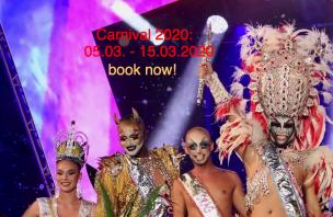 Carnival Maspalomas 2020<br>Playa del Ingles, Spain