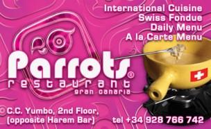 Parrots Restaurant Gran Canaria<br>Playa del Ingles, Spain