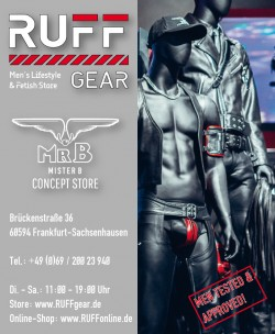 RUFF GEAR Men's Lifestyle & Fetish Store<br>Frankfurt, Deutschland